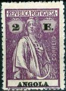 ANGOLA, COLONIA PORTOGHESE, PORTUGUESE COLONY, CERES, 1923, NUOVI (MLH*), 2 E. Michel 223A,  YT 222(B)   Scott 155 - Angola