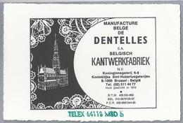 BE.- MANUFACTURE BELGE DE DENTELLES S.A. BELGISCH KANTWERKFABRIEK. Koninginnegalerij 6-8 Brussel België - Reclame