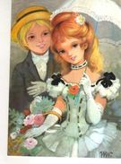 BERGAS  Couple Elegant , Ombrelle - Autres Illustrateurs
