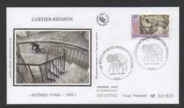 """DF / FDC DU TP 3265 SERIE DES GRANDS PHOTOGRAPHES FRANÇAIS : CARTIER-BRESSON """" HYÈRES (VAR) - 1932 """" - Lettres & Documents"""