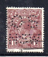 T1128 - NEW SOUTH WALES , Head  Servizio Perforato OS NSW  : Il 1 1/2  Pence  Fil  Crown On A  Usato - 1850-1906 New South Wales