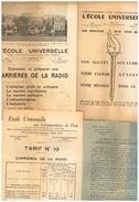 Lot L'école Universelle Par Correspondance Paris Carrière Radio Aviation Civil & Militaire Marine Marchande & Militaire - Books, Magazines, Comics