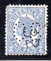 T1178 - QUEENSLAND , OS : 2 Pence Usato . Annullo . Servizio - 1860-1909 Queensland