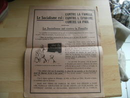 Tract Contre Socialisme  Centre Propagande Reppublicains Nationaux - Documenti Storici