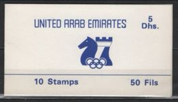 United Arab Emirates (1986) Mi. 210 - Booklet  /  Chess - Echecs - Ajedrez - Schach - Schaken