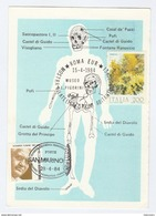 1984 SAN MARINO/ ITALY STATIONERY  PREHISTORIC MAN Museum EVENT COVER Card Prehistory Stamps - Archaeology