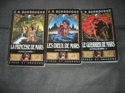 N°1 La Princesse De Mars.N° 2 Les Dieux De Mars  N°3 Le Guerrier De Mars  N° 4 Thuvia Viege De Mars De E.r Burroughs - Albin Michel
