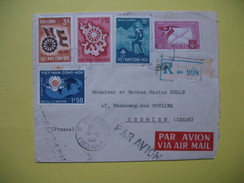 Lettre Du Viêt-Nam  - Saigon   Pour La France En Recommandé - Vietnam