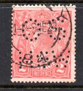 T1396 - NEW SOUTH WALES  AUSTRALIA , Head  Servizio Perforato OS NSW  : Il 2  Pence  Fil  Crown On A Usato - 1850-1906 New South Wales