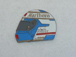 Pin's CASQUE MARLBORO, ALAIN PROST  01 - Car Racing - F1