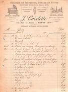 Document De 1890 CUVELETTE Fabrique De Serpentins, Tuyaux En Cuivre - Noyon 60 - Frankreich