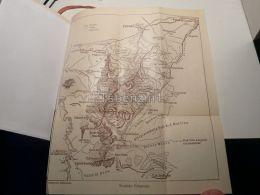 Palagruppe Pale Di San Martino Falcade Forno Di Canale  Italy Austria Gravour Print 1928 - Geographical Maps