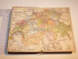 Schweiz Suisse Map Karte 1886 - Cartes Géographiques