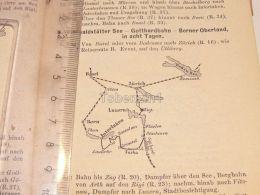 Schweiz Suisse Luzern Rigi Zürich Bern Interlaken Boden See Basel Map Karte 1886 - Cartes Géographiques