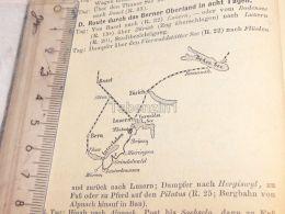 Schweiz Suisse Luzern Zürich Bern Interlaken Boden See Basel Map Karte 1886 - Cartes Géographiques