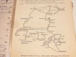 Schweiz Suisse Luzern Zürich Genf Mailand Bellaggio Chamonix Rigi Neuchatel Boden See Basel Map Karte 1886 - Cartes Géographiques