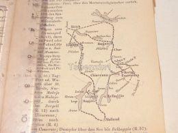 Schweiz Suisse Luzern Zürich Mailand Bellaggio Ragatz Chiavenna Boden See Basel Map Karte 1886 - Cartes Géographiques