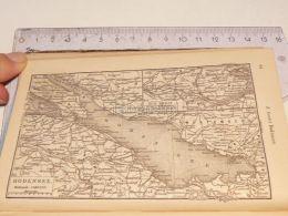 Bodensee Boden See Schweiz Suisse Map Karte 1886 - Cartes Géographiques