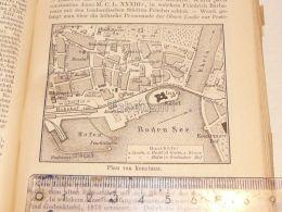 Konstanz Boden See Bodensee Hafen Rhein Schweiz Suisse Map Karte 1886 - Cartes Géographiques