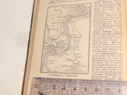 Schaffhausen Neuhausen Uhwiesen Flurlingen Ölberg Rheinfall Schweiz Suisse Map Karte 1886 - Cartes Géographiques