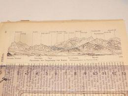 Umgebung Ragaz Schweiz Suisse Map Karte 1886 - Cartes Géographiques