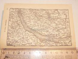 Zürich Zurich Zürichsee Schweiz Suisse Map Karte 1886 - Cartes Géographiques