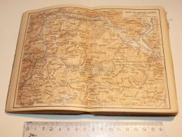 Ost Glarner Alpen Amden Mollis S. Argans Ragatz Wallenstadt Glarus Schweiz Suisse Map Karte 1886 - Landkarten