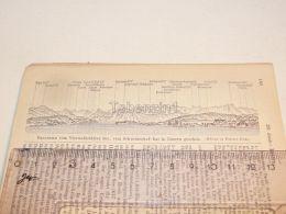 Luzern Vierwaldstatter See Schweizerhof Kai Schweiz Suisse Map Karte 1886 - Cartes Géographiques