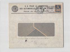 15817 HELVETIA GENEVE FIAT TO TORINO - 1932 - TARGHETTA - Svizzera