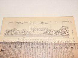 Panorama Beckenried Schweiz Suisse Map Karte 1886 - Cartes Géographiques