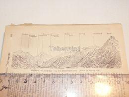 Reussthal Axenstrasse Schweiz Suisse Map Karte 1886 - Landkarten