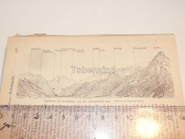 Reussthal Axenstrasse Schweiz Suisse Map Karte 1886 - Cartes Géographiques