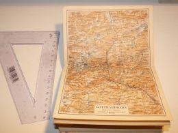 GotthardbahnAltdorf Erstfeld Disentis Airolo St. Gotthard Hospenthal  Schweiz Suisse Map Karte 1886 - Cartes Géographiques