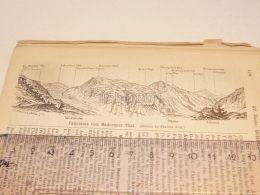 Maderaner Thal Schweiz Suisse Map Karte 1886 - Cartes Géographiques