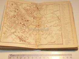 Basel Rhein Schweiz Suisse Map Karte 1886 - Landkarten