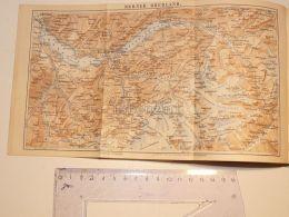 Bern Berner Oberland Krattigen Guttannen Oberwald Münster Thuner See Meiringen Schweiz Suisse Map Karte 1886 - Landkarten