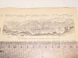 Haslithal Brünig Schweiz Suisse Map Karte 1886 - Cartes Géographiques