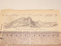 Grossen Schneidegg Schweiz Suisse Map Karte 1886 - Landkarten