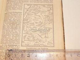Faulhorn Schneidegg Grindelwald Interlaken Schweiz Suisse Map Karte 1886 - Landkarten