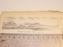 Interlaken Schweiz Suisse Map Karte 1886 - Cartes Géographiques