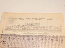 Lausanne Schweiz Suisse Map Karte 1886 - Landkarten