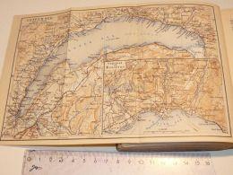 Genf Genfer See Montreux Lac Leman Lausanne Thonon Villeneuve Schweiz Suisse Map Karte 1886 - Cartes Géographiques