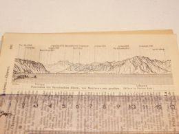 Savoyischen Alpen Montreux Schweiz Suisse Map Karte 1886 - Landkarten