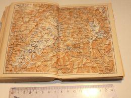 Montblanc Chamonix Liddes St. Bernard Schweiz Suisse Map Karte 1886 - Landkarten