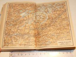 Ober Wallis Brieg Kippel Leuk Monte Leone Schweiz Suisse Map Karte 1886 - Cartes Géographiques