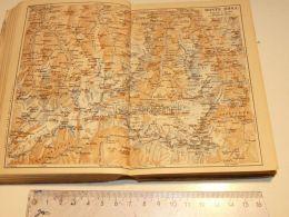 Monte Rosa  Schweiz Suisse Map Karte 1886 - Cartes Géographiques