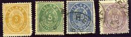 ISLANDE - ISLAND - COLECTION D'ANCIENS 1882 - Numéros 12 à 15 - 4 TIMBRES Oblitérés - 1873-1918 Dépendance Danoise