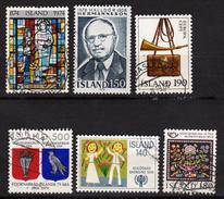ISLANDE - ISLAND - 1974 à 1980 - 6 Timbres Oblitérés - 1944-... Republique