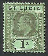 St. Lucia, 1 S. 1909,  Sc # 62, Mi # 51, MH.. - St.Lucia (...-1978)