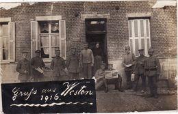 CP Photo 1916 BRIASTRE (près Solesmes) - Quartier Allemand, IR 104 (A185, Ww1, Wk 1) - Sonstige Gemeinden